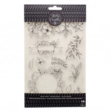 Carimbo - Kelly Creates Acrylic Stamps Floral Florals