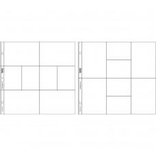 Refil plástico - Project Life Photo Pocket Pages 12/Pkg Design A e D
