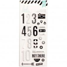 Adesivo - Heidi Swapp Foam Stickers Puffy Numbers/Black