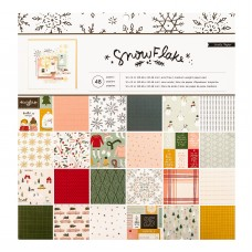 Bloco de Papel  - Crate Paper Single-Sided Paper Pad  Snowflake