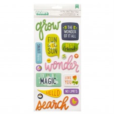 Adesivo - Shimelle Never Grow Up Thickers Stickers Let's Go Phrase/Puffy
