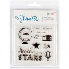 Carimbo - Shimelle Starshine Acrylic Stamps 11/Pkg