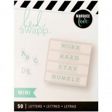 Alfabeto - Heidi Swapp Mega Pack Lightbox Inserts  Mini Alphabet/Teal