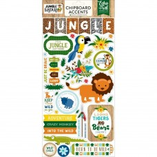 Adesivo chipboard - Jungle Safari Chipboard Accent