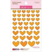 Adesivo - Bella Blvd Puffy Hearts - Orange Mix