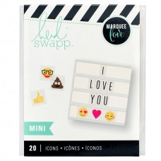 Alfabeto - Heidi Swapp Lightbox Inserts Mini Emoji Icons