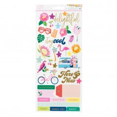 Adesivo - Dear Lizzy Here & Now Cardstock Stickers  W/Gold Foil Accents
