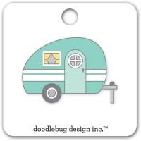 Flea Market Collectible Enamel Pin Glamper