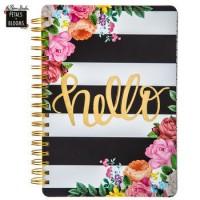 Caderno - Hello Striped Floral Journal