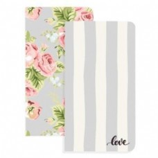 Refil Diário de viagem - Color Crush Traveler's Planner Notebooks  Love Stripe & Floral