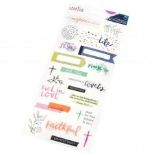 Adesivo - Creative Devotion Clear Stickers Phrase & Icons