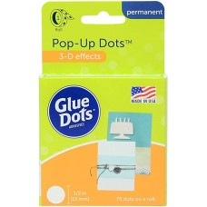 Cola de silicone - Glue Dots Clear Dot Roll Pop Up