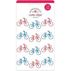 Clips - Doodlebug Cute Clips 12/Pkg Bike