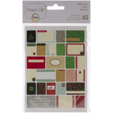 Cards - Project Life Themed Cards 40/Pkg Christmas