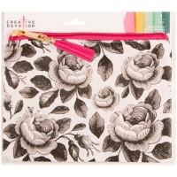 Estojo - Creative Devotion Oil Cloth Zippered Pencil Pouch