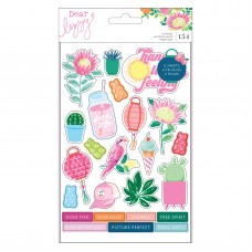 Adesivo - Dear Lizzy Here & Now Sticker Book Shapes W/Gold Foil Accents