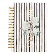 Caderno - Pink Paislee - C'est La Vie Collection - 6 x 8 Spiral Notebook