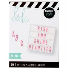 Alfabeto - Heidi Swapp Mega Pack Lightbox Inserts  Mini Alphabet/Pink