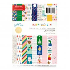 Bloco de Papel - Pebbles Single-Sided Paper Pad  Happy Cake Day