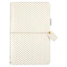 Diário de viagem - Color Crush Traveler's Notebook Planner  Gold dots