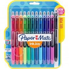 Caneta - Paper Mate Inkjoy Gel Pens .7mm 12/Pkg Assorted