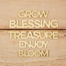 Enfeites em madeira - Grow and Bloom Wood Veneer