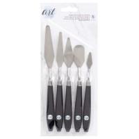 Espátulas - Art Supply Basics Stainless Palette Knife Set 5/Pkg