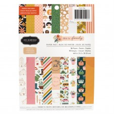 Bloco de Papel - Pebbles Single-Sided Paper Pad Jen Hadfield Family