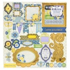 Adesivo chipboard - Bee-Utiful You Chipboard Stickers W/Iridescent Foil Accents