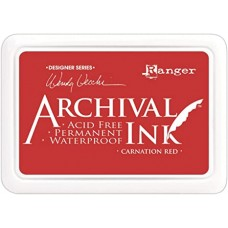 Carimbeira - Wendy Vecchi Archival Ink Pad Carnation Red