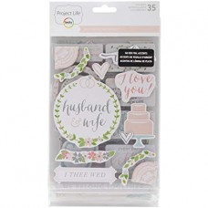 Adesivo chipboard - Project Life Chipboard Stickers Southern Weddings Edition
