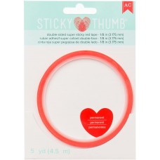 Cola dupla face - Sticky Thumb Double-Sided Super Sticky Red Tape 3mm