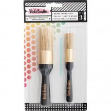 Pincel - Vicki Boutin Mixed Media Stencil Brush Set All The Good Things