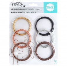 Arame - We R Memory Keepers Happy Jig Color Wire 6/Pkg Neutral