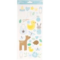 Adesivo - Lullaby Cardstock Stickers 5Baby Boy Icons & Accents