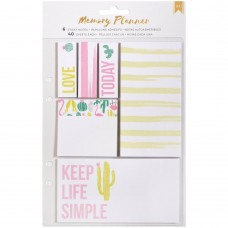 Bloco - American Crafts Memory Planner Sticky Note Pack 6 Pads, Various Sizes
