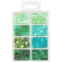 Paetes - Cup Sequins 7mm Go Green