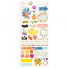 Adesivo - Amy Tan Picnic In The Park Cardstock Stickers W/Glitter Accents