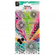 Carimbo - Vicki Boutin Color Study Acrylic Stamps  It's All Good