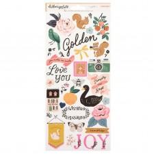 Adesivo - Adesivo - Jen Hadfield Hey, Hello Cardstock Stickers Icons W/Gold Foil Accents