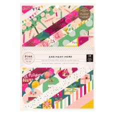 Bloco de Papel - Pink Paislee Single-Sided Paper Pad  Paige Evans And Many More