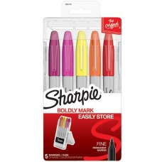Caneta Permanente - Sharpie Permanent Markers W/Hardcase Ultra Fine Point, Dynamic Colors