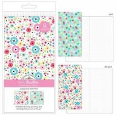 Refil Diário de viagem - Doodlebug Planner Inserts 2/Pkg Poppy Party Grid & Dot Grid