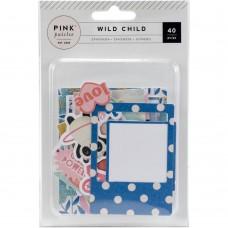 Recortes em cardstock - Wild Child Ephemera Cardstock Die-Cuts 40/Pkg