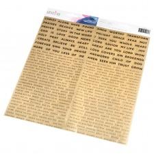 Adesivo - Creative Devotion Word Stickers W/Gold Foil