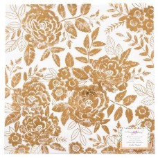 Papel vegetal - Maggie Holmes Willow Lane Vellum  Golden W/Gold Foil Accents