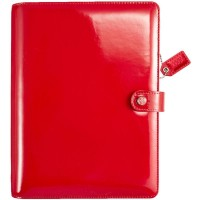 Agenda - Color Crush A5 Faux Leather Planner Kit  Patent Red