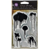 Carimbo - Prima Cling Stamp Paint Drips