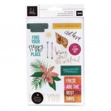 Adesivo - Heidi Swapp Art Walk Small Sticker Pack W/Gold Foil Accents