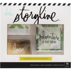 Enfeites - Heidi Swapp Storyline2 Deck Of Days 76/Pkg Adventure